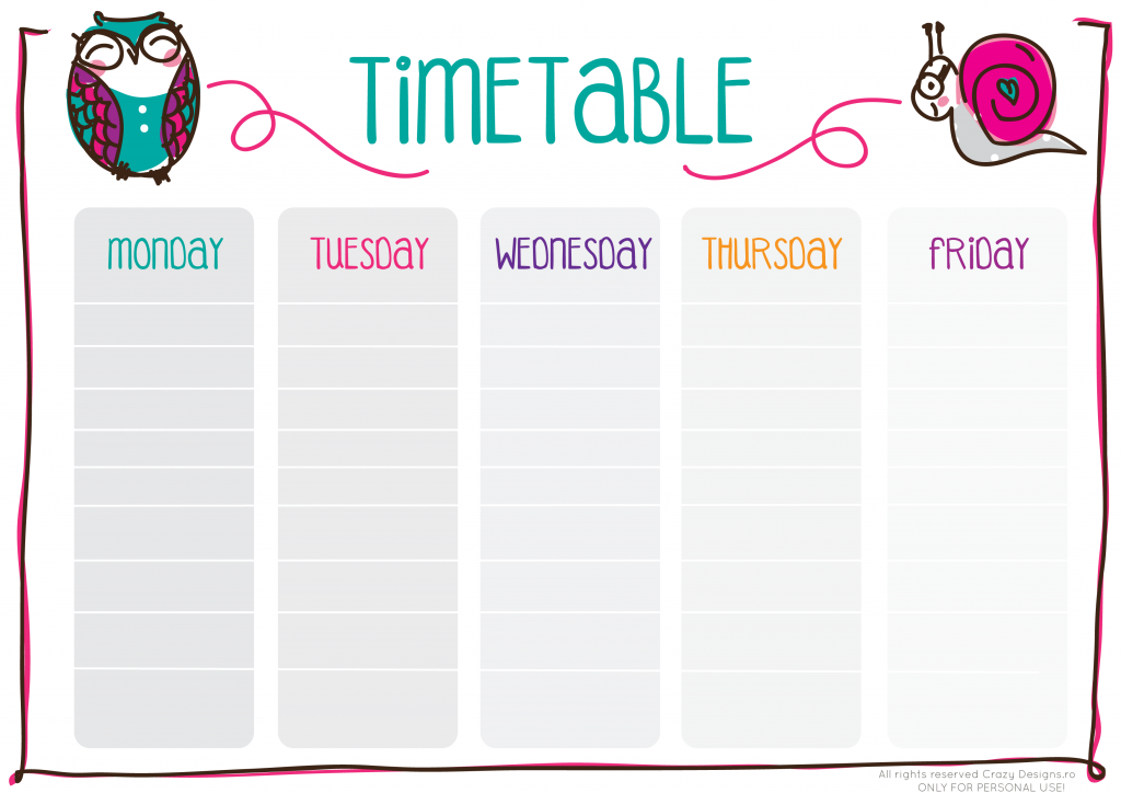 timetable-crazy-designs