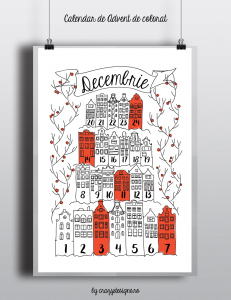 Advent calendar pack/Pachet calendar de Advent DOWNLOAD http://crazydesigns.ro/2016/12/decembriedecemberdicembre-pack/