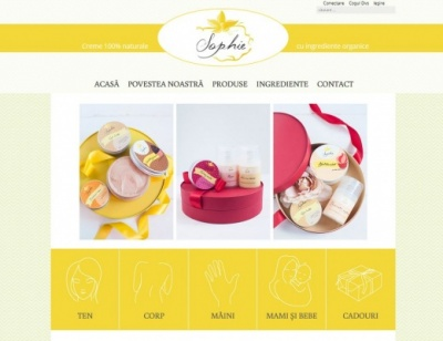 Magazin online cosmetice naturale Sophie natural